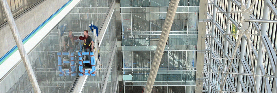 inside glass cleaning