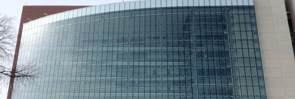 large front side of building